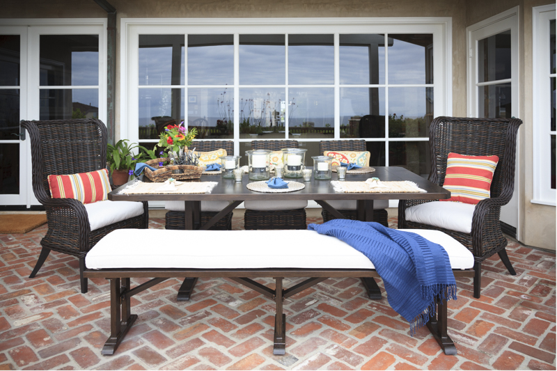 Sources   Patio Furniture: To The Trade, Cushions: Sunbrella, Pillows U0026  Select